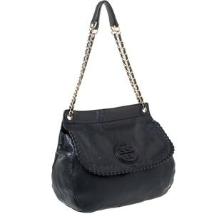 Tory Burch Marion Leather Saddle Bag Cross Body